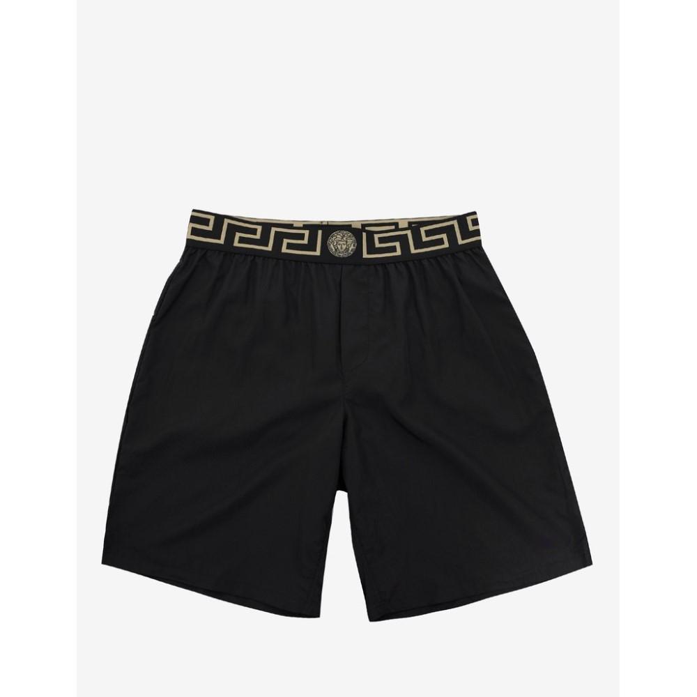 ヴェルサーチ Versace Gym メンズ 水着・ビーチウェア 海パン【Greek Pattern Long Swim Shorts】Black
