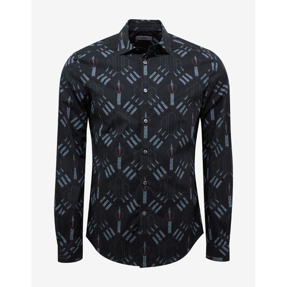 ヴァレンティノ Valentino メンズ トップス シャツ【Loveblade Print Shirt】Black