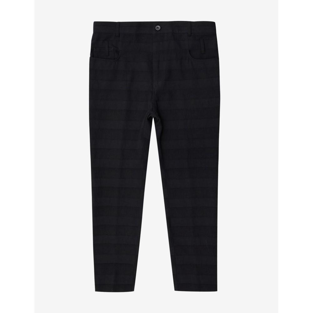 ハイダー アッカーマン Haider Ackermann メンズ ボトムス・パンツ ジーンズ・デニム【Fugu Tonal Stripe Cotton Blend Jeans】Black