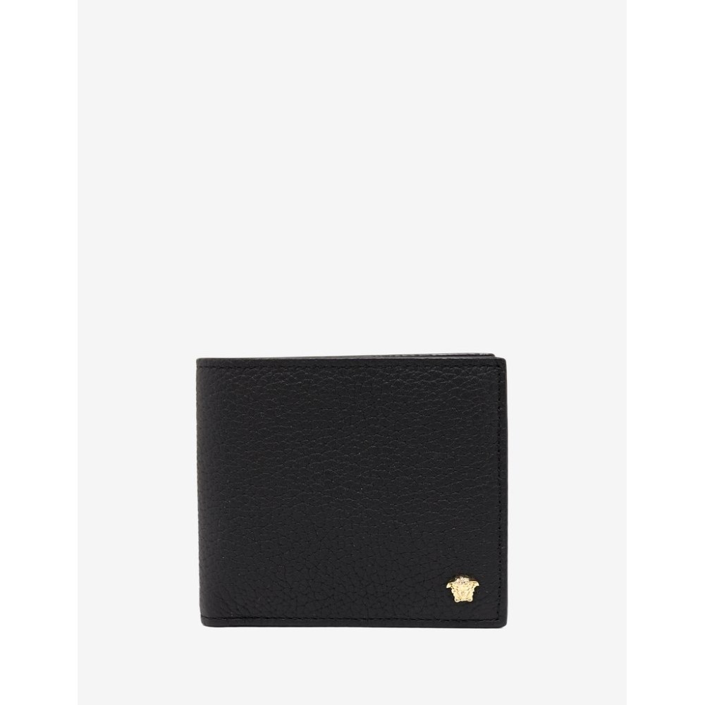 ヴェルサーチ Versace メンズ 財布【Grain Leather Medusa Billfold Wallet】Black