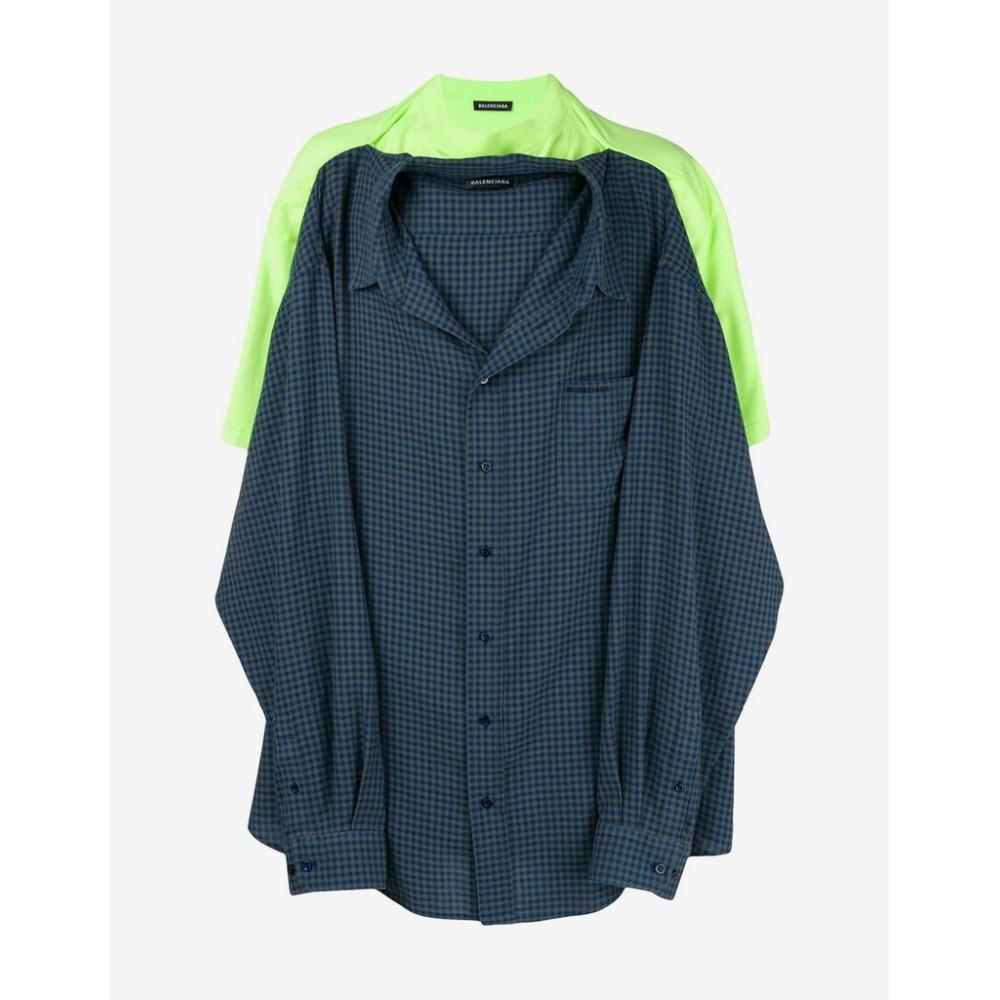 バレンシアガ Balenciaga メンズ トップス Tシャツ【Green T-Shirt Shirt】Blue