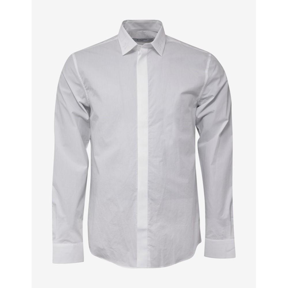ジバンシー Givenchy メンズ トップス シャツ【Show Fit Shirt with Stars & Band】White