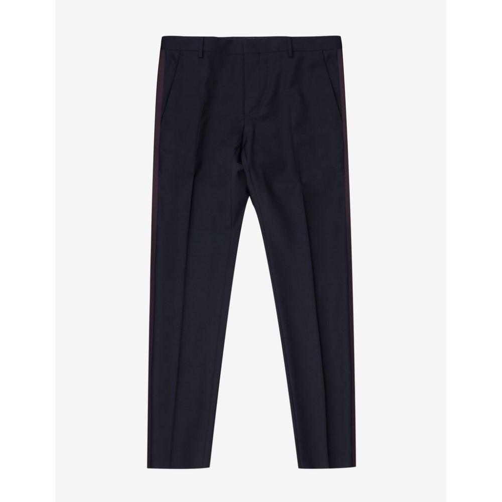 ヴァレンティノ Valentino メンズ ボトムス・パンツ【Navy Trousers with Burgundy Trim】Blue