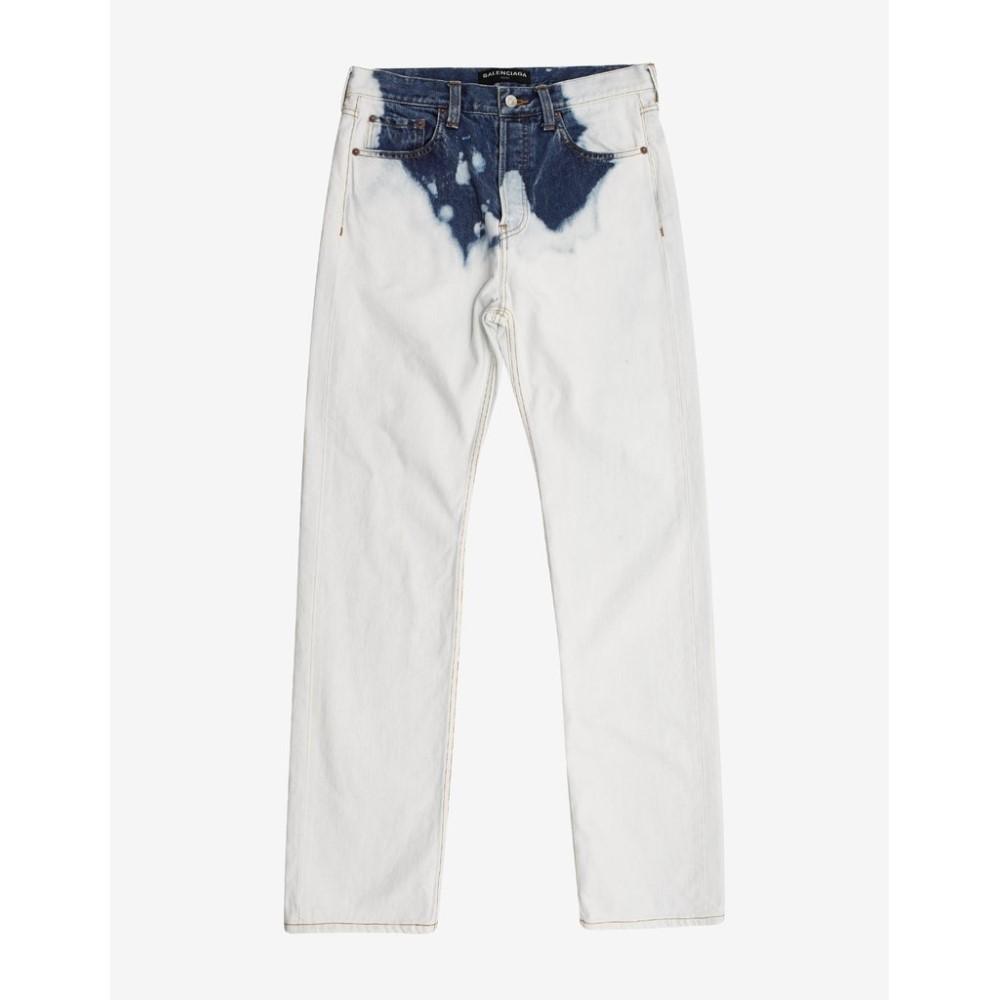 バレンシアガ Balenciaga メンズ ボトムス・パンツ ジーンズ・デニム【Bleached Denim Jeans】White