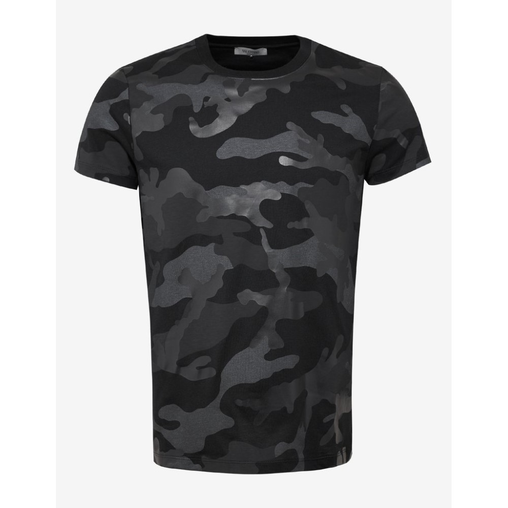 ヴァレンティノ Valentino メンズ トップス Tシャツ【Camouflage Print T-Shirt】Black