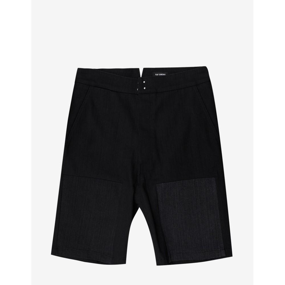 ラフ シモンズ Raf Simons メンズ ボトムス・パンツ ショートパンツ【Denim Workwear Shorts with Insert】Black