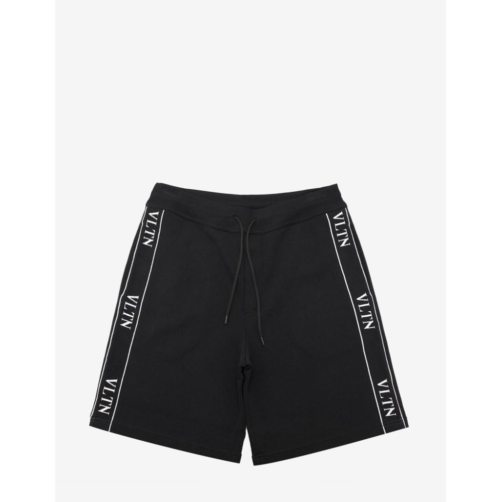ヴァレンティノ Valentino メンズ ボトムス・パンツ ショートパンツ【VLTN Band Sweat Shorts】Black