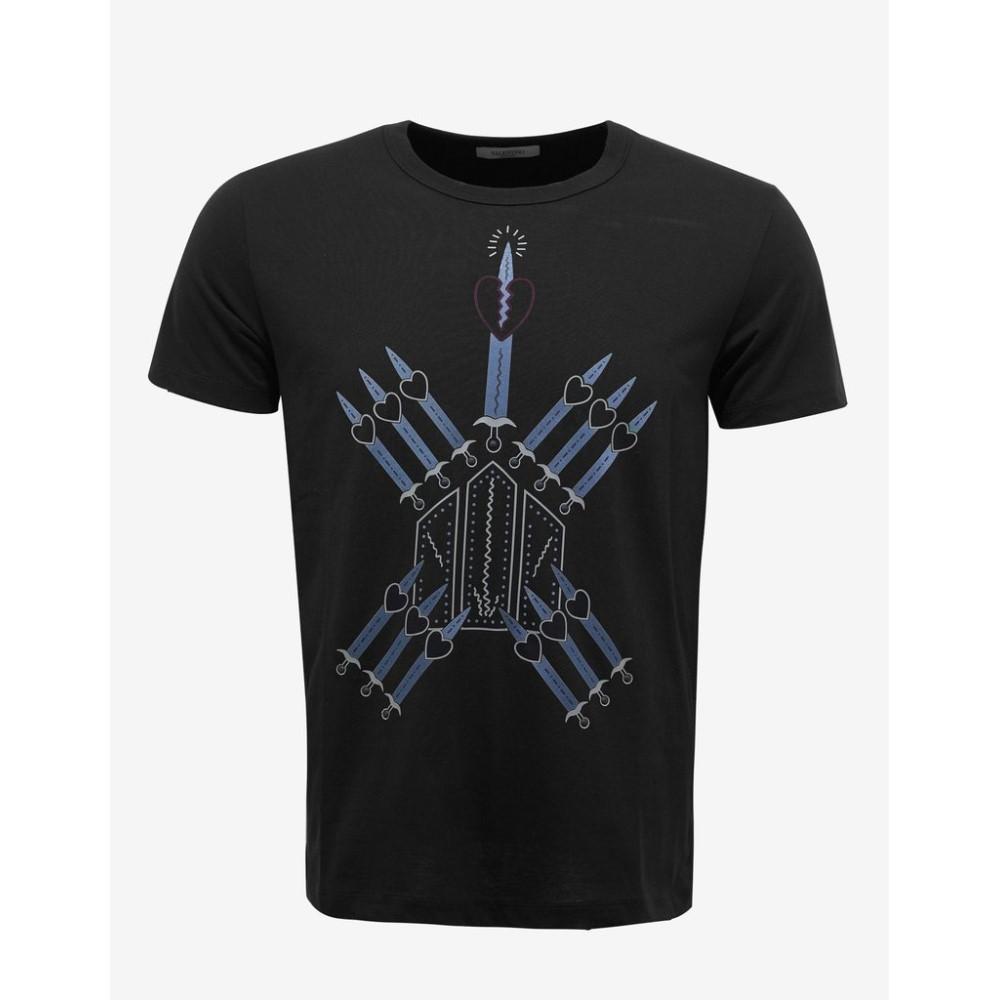 ヴァレンティノ Valentino メンズ トップス Tシャツ【Loveblade Print T-Shirt】Black