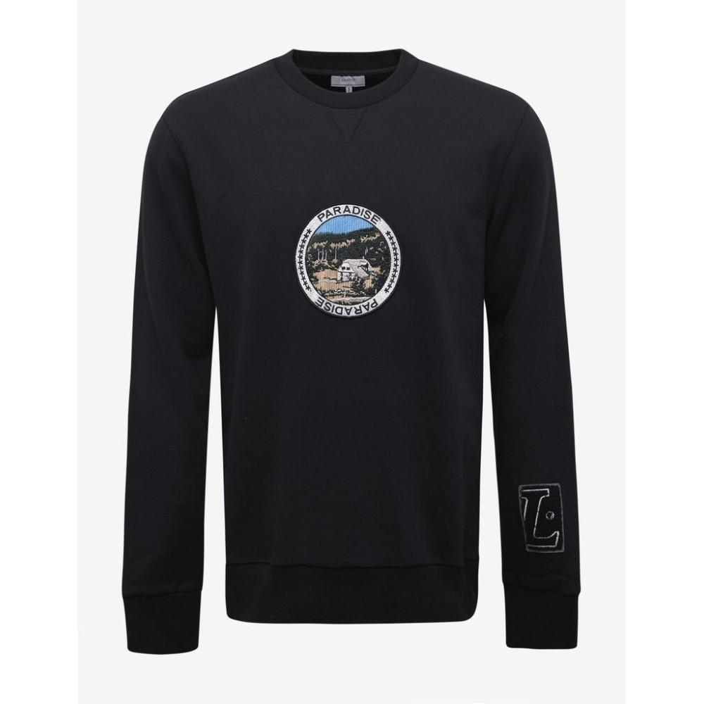 ランバン Lanvin メンズ トップス スウェット・トレーナー【Paradise Patches Sweatshirt】Black