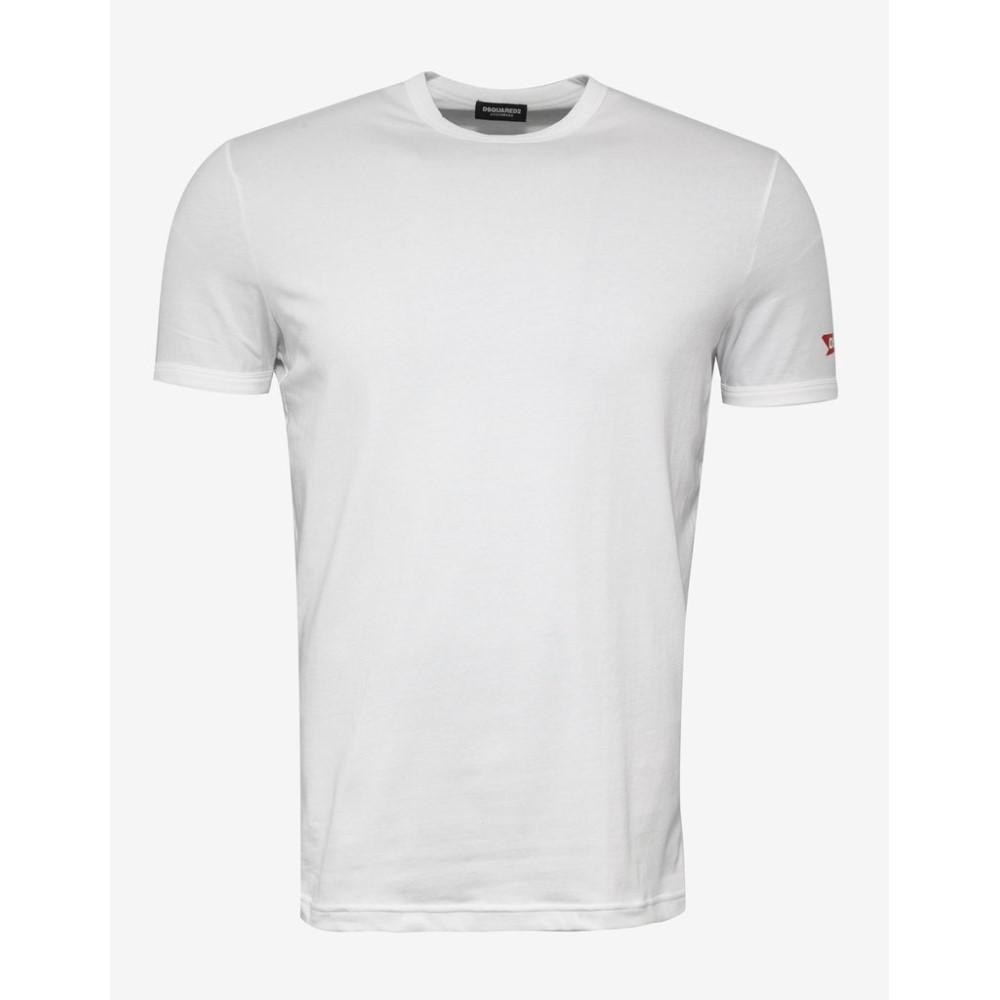 ディースクエアード Dsquared2 メンズ トップス Tシャツ【DSQ2 Sleeve Print T-Shirt】White