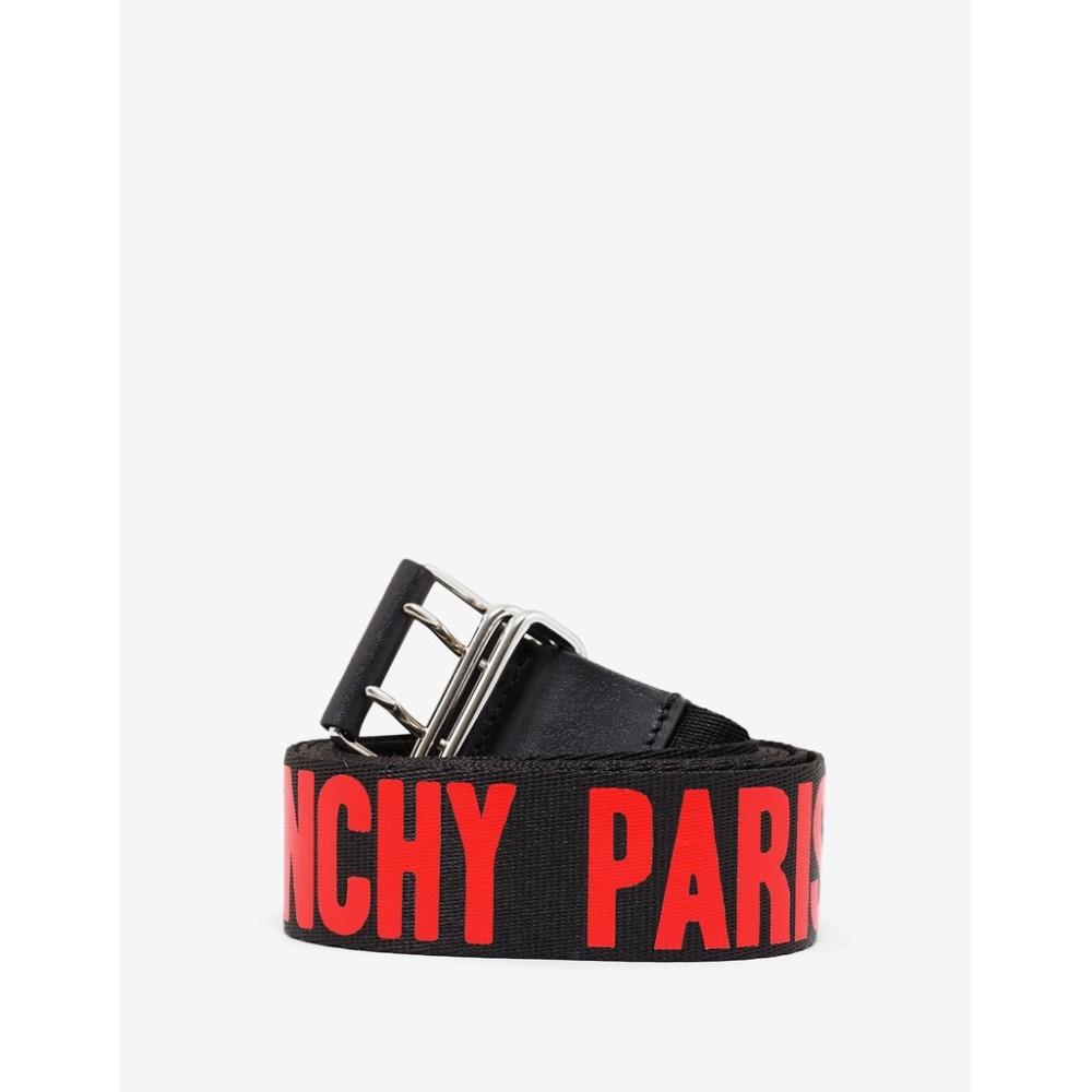 ジバンシー Givenchy メンズ ベルト【Canvas Logo Belt】Black