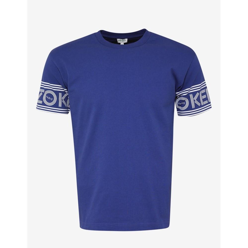 ケンゾー Kenzo メンズ トップス Tシャツ【Logo Sleeve T-Shirt】Blue