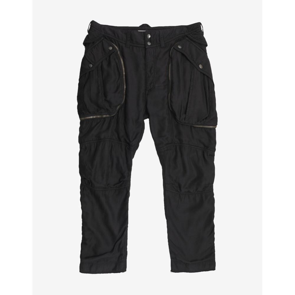 フェイス コネクション Faith Connexion メンズ ボトムス・パンツ カーゴパンツ【Satin Cropped Cargo Pants】Black