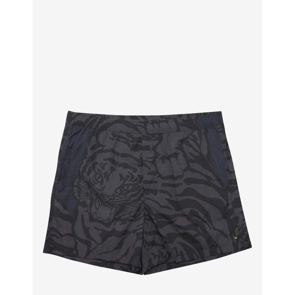 ヴァレンティノ Valentino メンズ 水着・ビーチウェア 海パン【Tiger Camouflage Print Swim Shorts】Grey