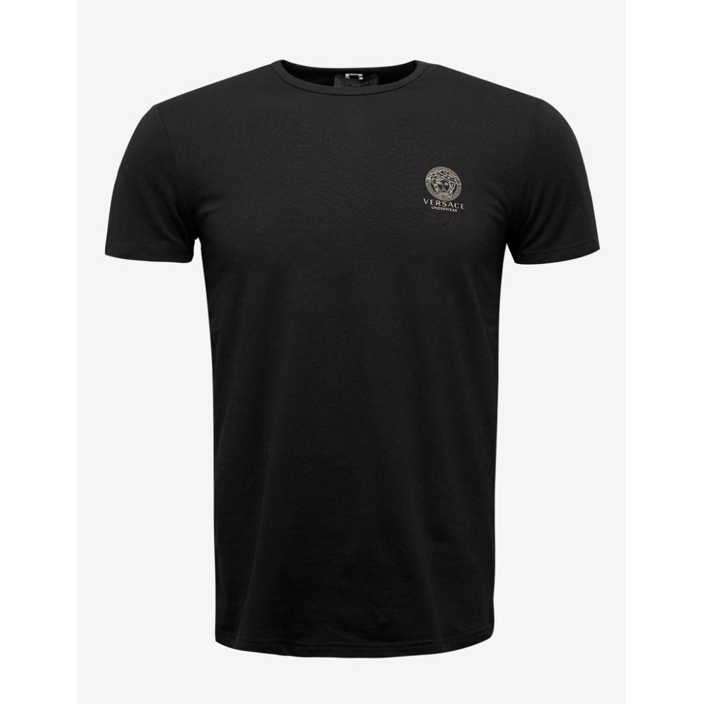 ヴェルサーチ Versace Gym メンズ トップス Tシャツ【Stretch Cotton T-Shirt】Black