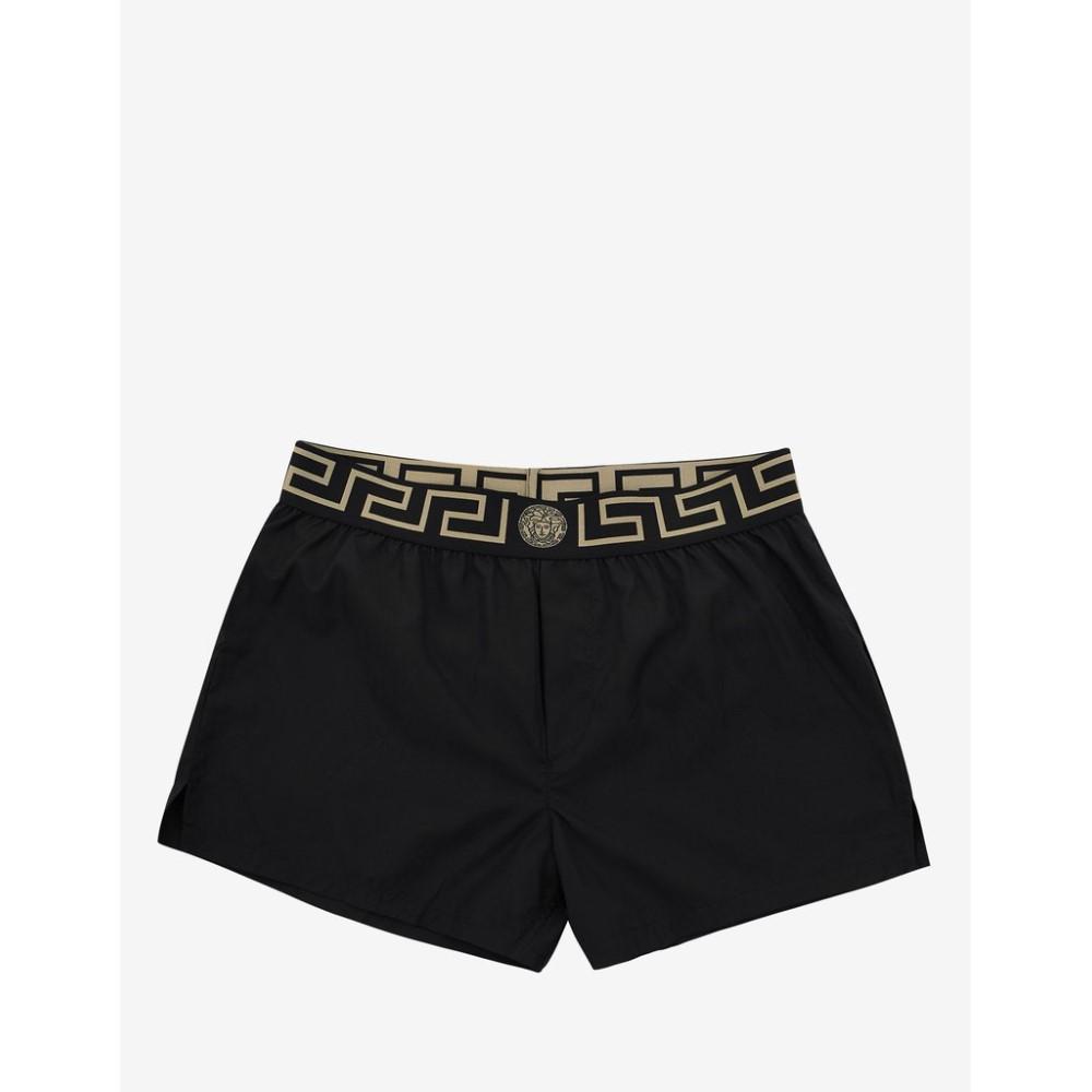 ヴェルサーチ Versace Gym メンズ 水着・ビーチウェア 海パン【Greek Pattern Swim Shorts】Black