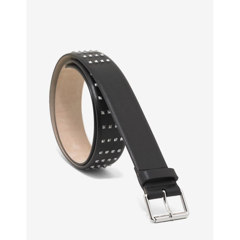 ヴァレンティノ Valentino Garavani メンズ ベルト【Leather Rockstud Belt】Black