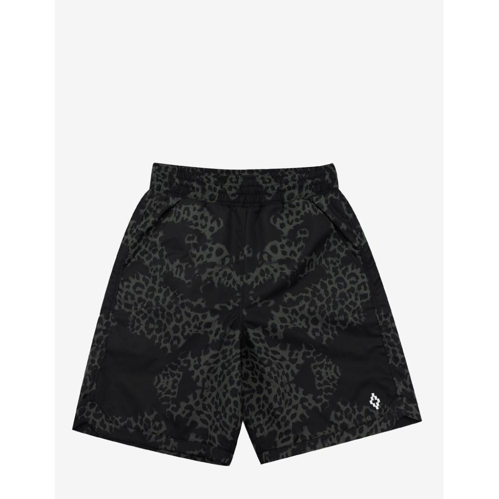 マルセロバーロン Marcelo Burlon メンズ 水着・ビーチウェア 海パン【Alonso Green Leopard Print Boardshorts】Green/Black