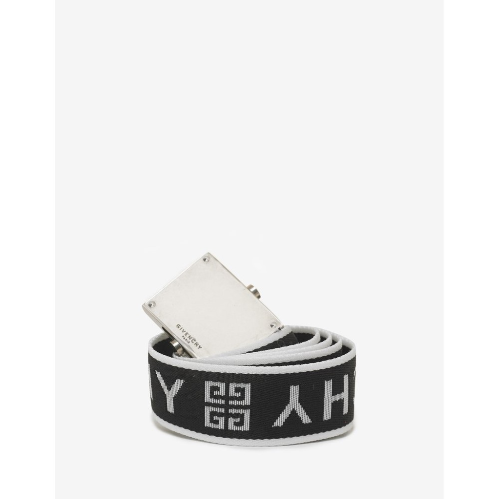 ジバンシー Givenchy メンズ ベルト【4G Logo Canvas Belt】Black