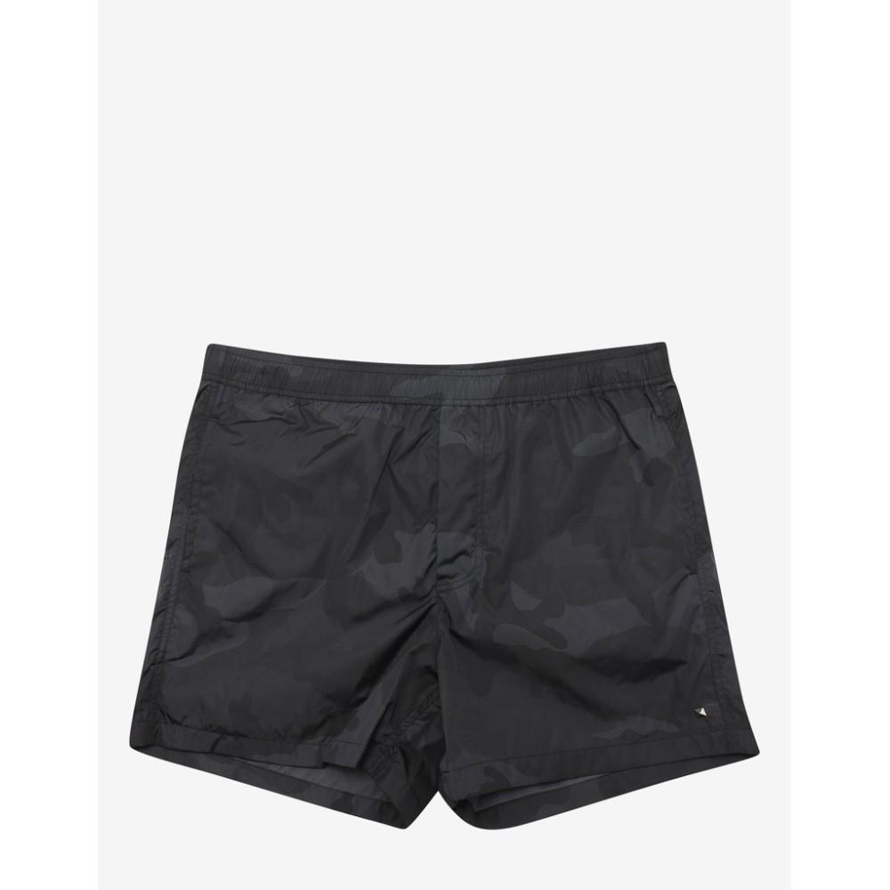 ヴァレンティノ Valentino メンズ 水着・ビーチウェア 海パン【Camouflage Print Swim Shorts】Black
