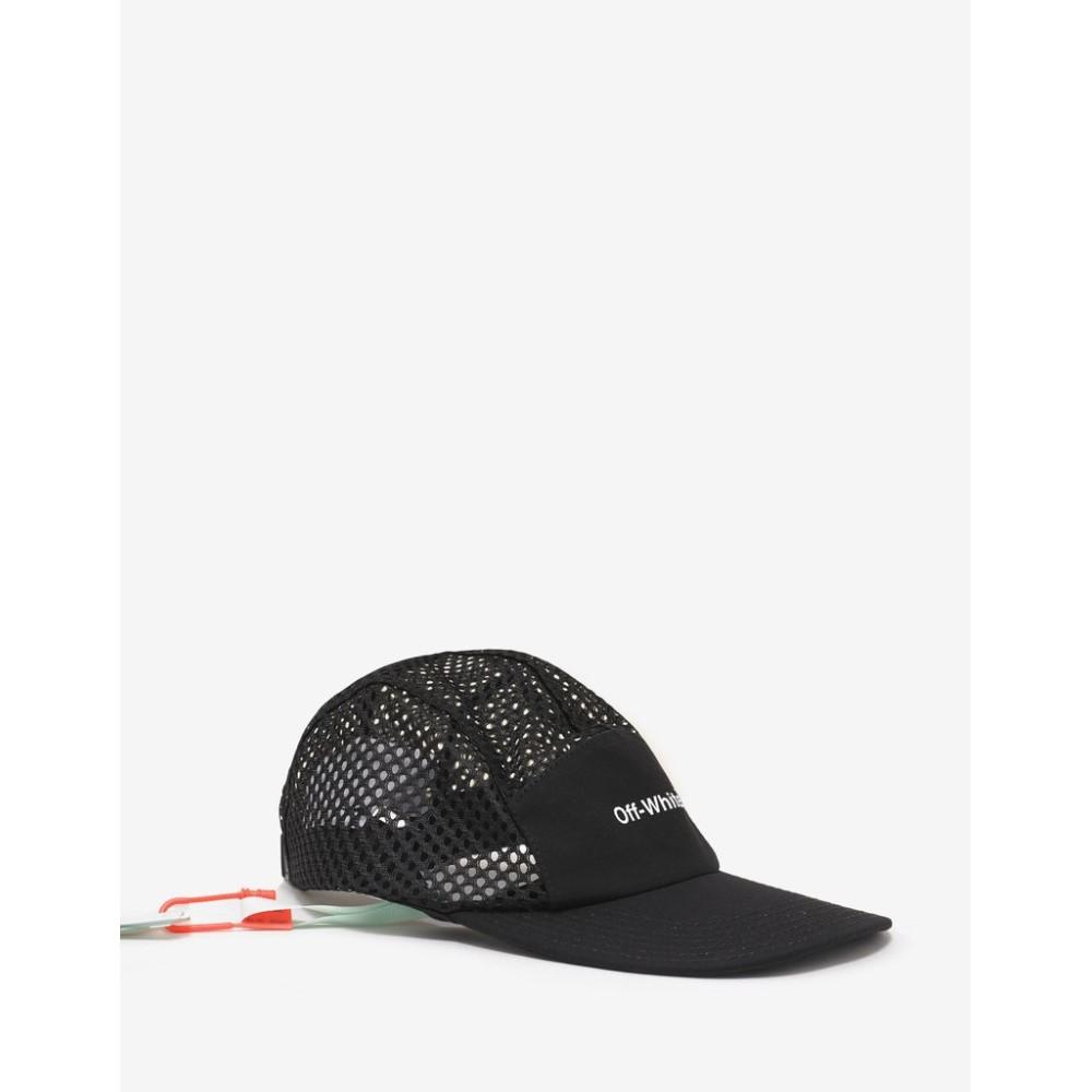オフ-ホワイト Off-White メンズ 帽子 キャップ【Mesh 5 Panel Cap】Black