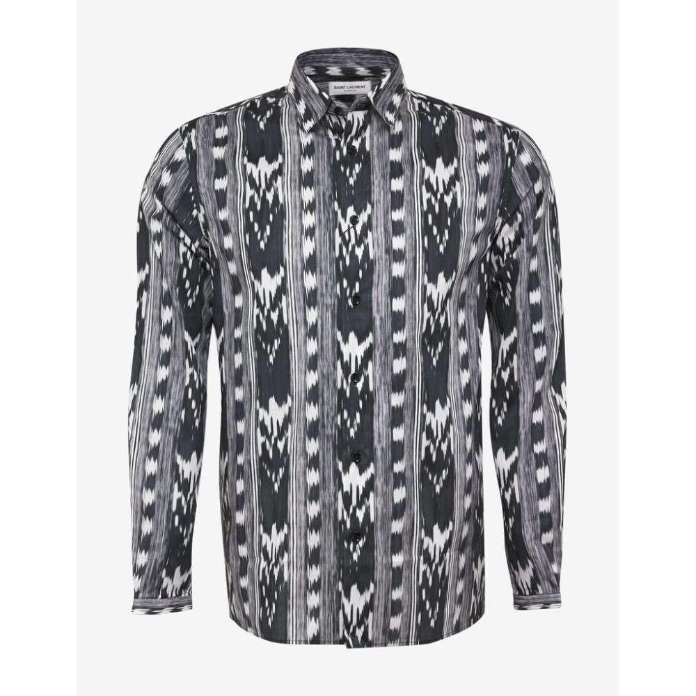 イヴ サンローラン Saint Laurent メンズ トップス シャツ【Ikat Print Shirt】Black