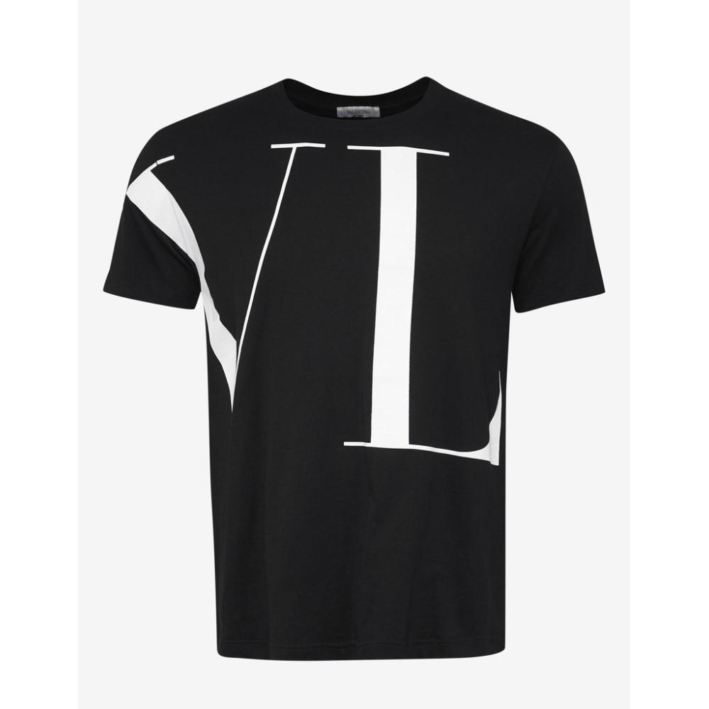 ヴァレンティノ Valentino メンズ トップス Tシャツ【VLTN T-Shirt】Black