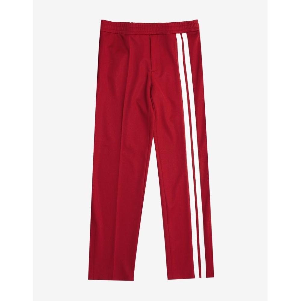 ヴァレンティノ Valentino メンズ ボトムス・パンツ【Trousers with White Stripes】Red