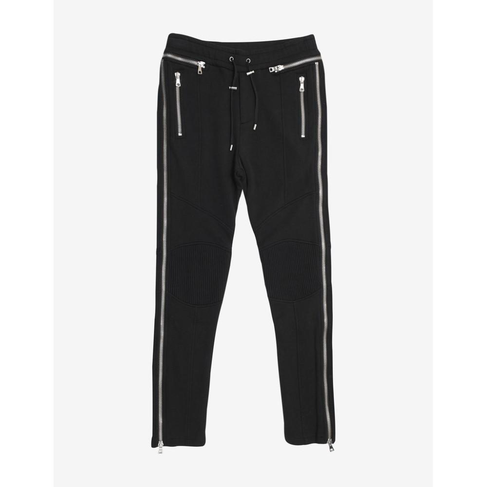 メンズ Pants】Black バルマン ボトムス・パンツ スウェット・ジャージ【Biker Sweat Balmain