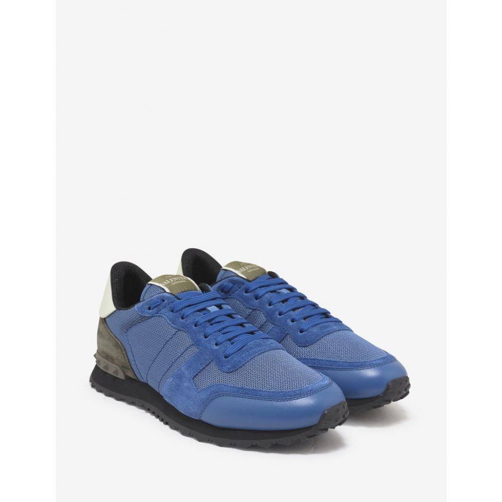 ヴァレンティノ Valentino Garavani メンズ シューズ・靴 スニーカー【Azure Blue Nylon Mesh Rockrunner Trainers】Blue