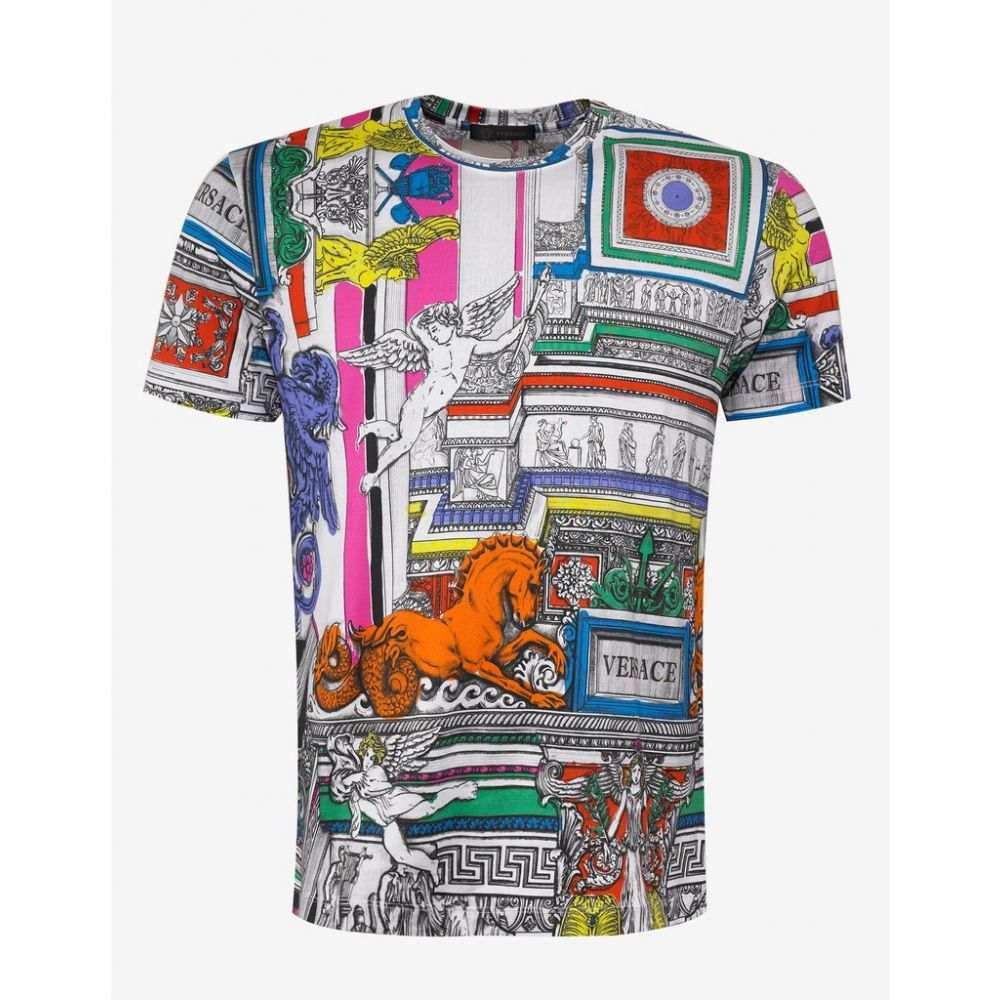 ヴェルサーチ Versace メンズ トップス Tシャツ【Il Tempio Print T-Shirt】White