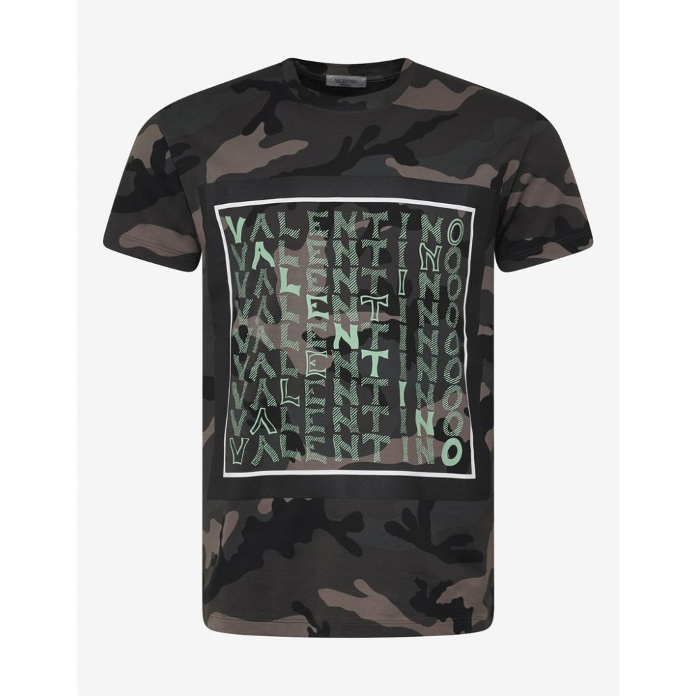 ヴァレンティノ Valentino メンズ トップス Tシャツ【Green Camo V For T-Shirt】Green