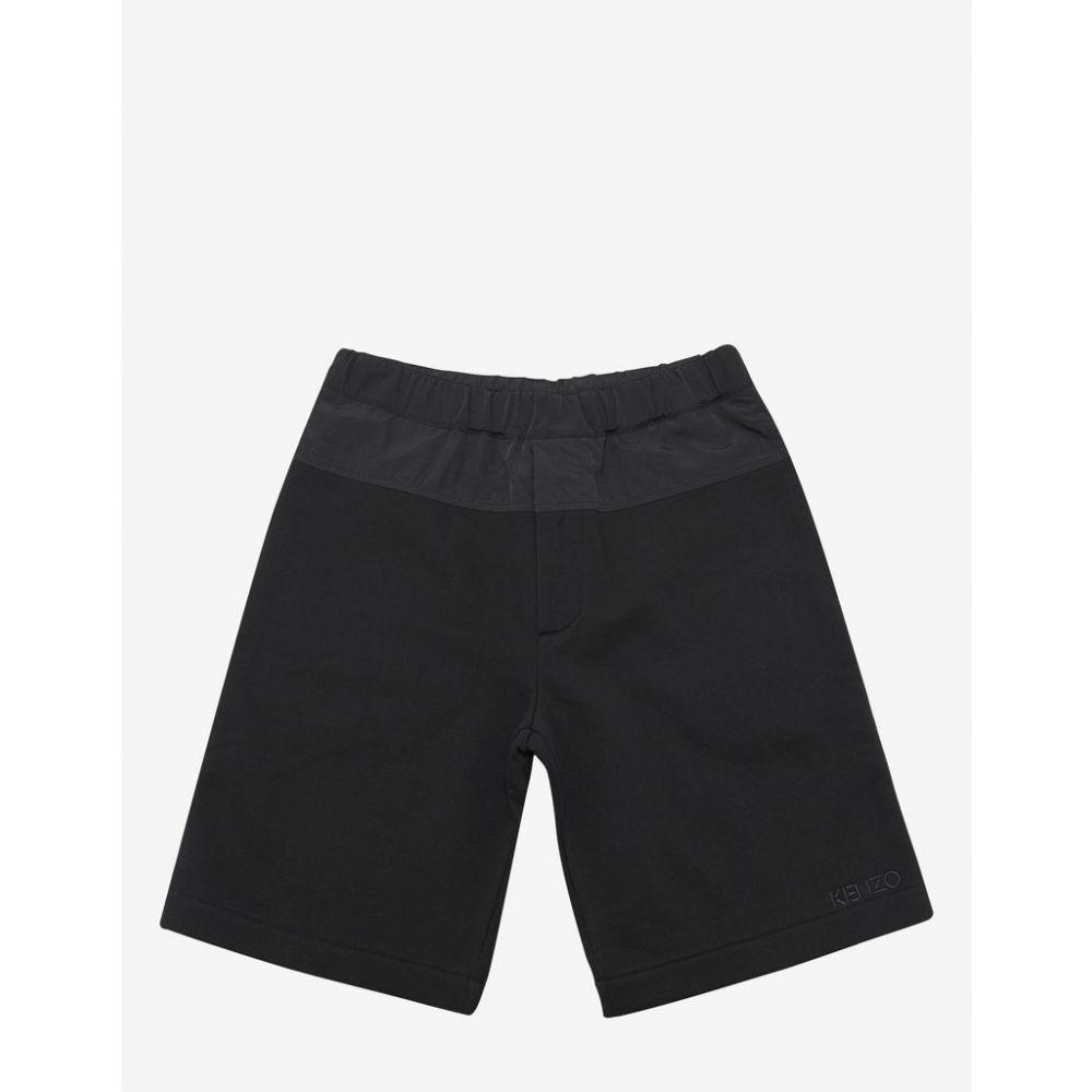ケンゾー Kenzo メンズ ボトムス・パンツ ショートパンツ【Black Nylon Panel Logo Sweat Shorts】Black