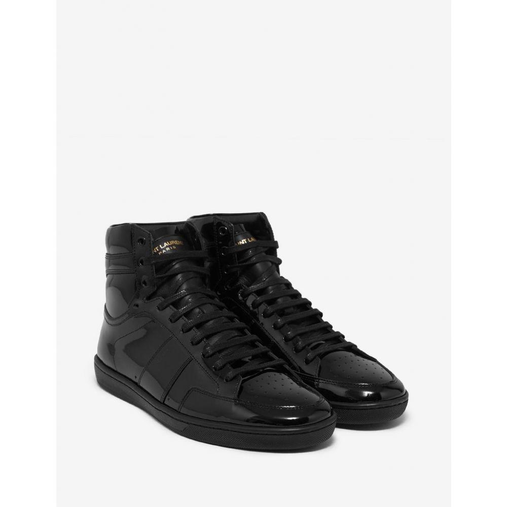 イヴ サンローラン Saint Laurent メンズ シューズ・靴 スニーカー【Court Classic SL/10H Patent Leather High Top Trainers】Black
