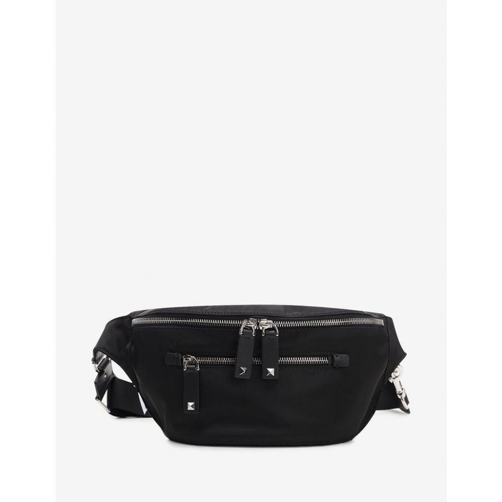 ヴァレンティノ Valentino Garavani メンズ バッグ ボディバッグ・ウエストポーチ【Black Nylon VLTN Waist Bag】Black