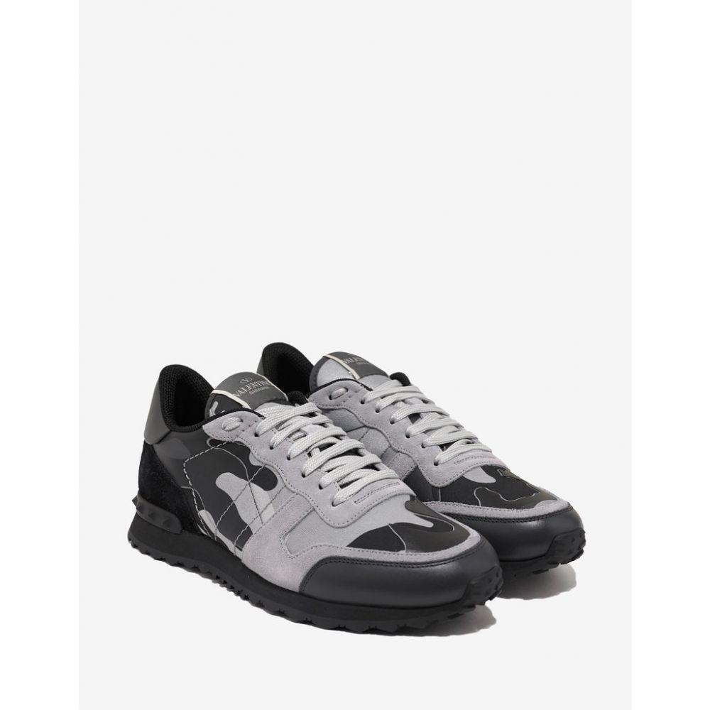 ヴァレンティノ Valentino Garavani メンズ シューズ・靴 スニーカー【Grey & Silver Camouflage Rockrunner Trainers】Grey