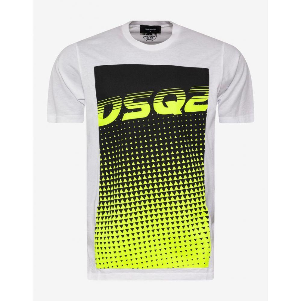 ディースクエアード Dsquared2 メンズ トップス Tシャツ【White DSQ2 Print T-Shirt】White