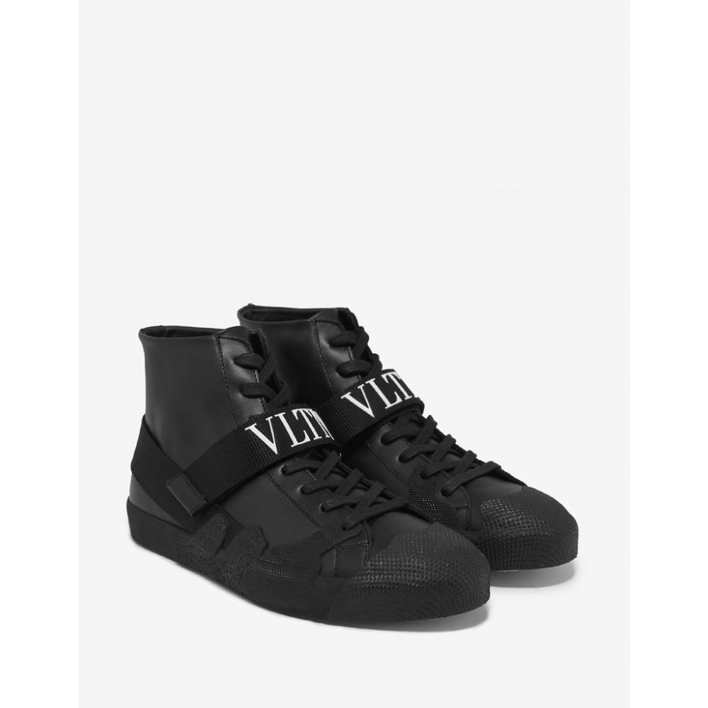 ヴァレンティノ Valentino Garavani メンズ シューズ・靴 スニーカー【Black VLTN Strap High Top Trainers】Black