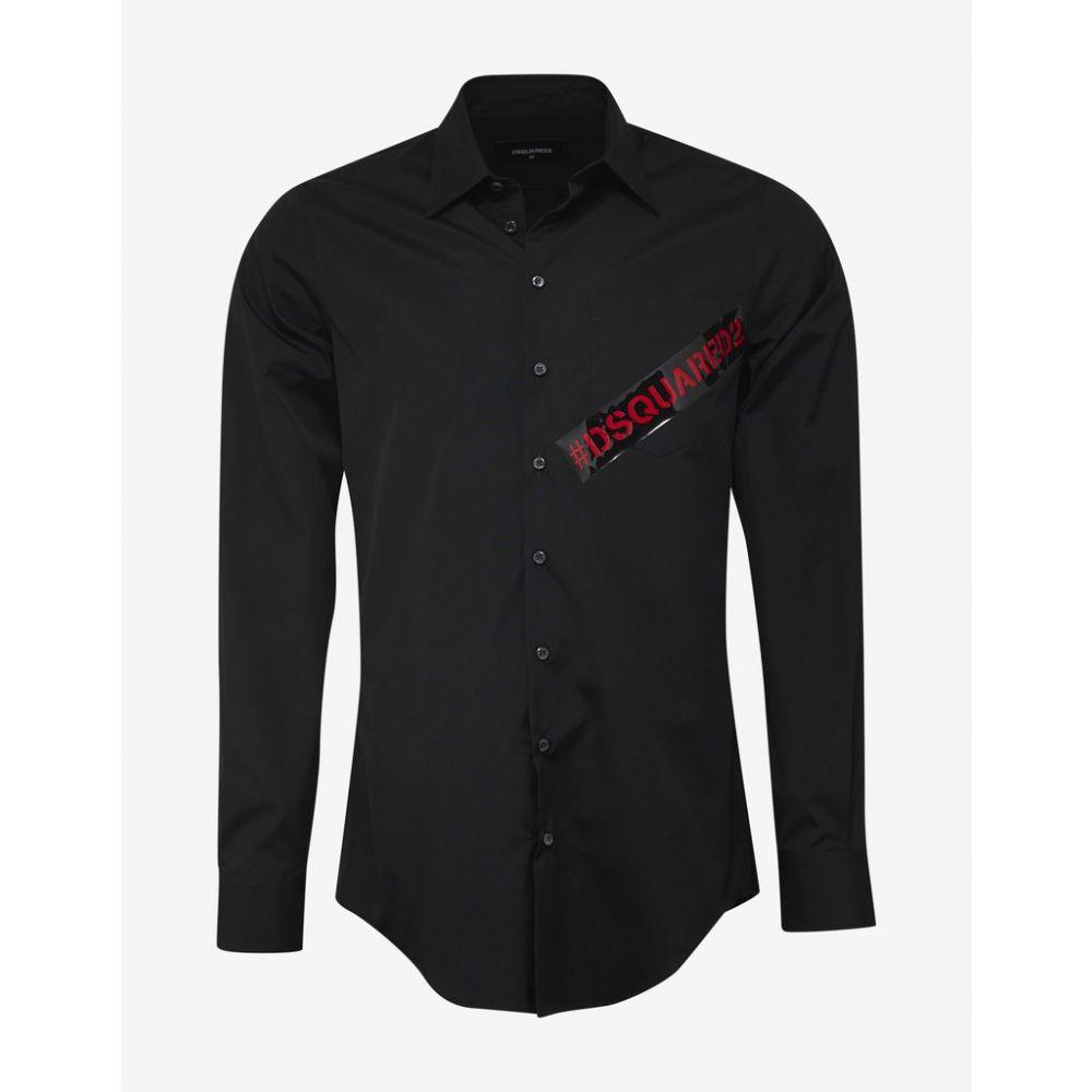ディースクエアード Dsquared2 メンズ トップス シャツ【Black Logo Tape Shirt】Black