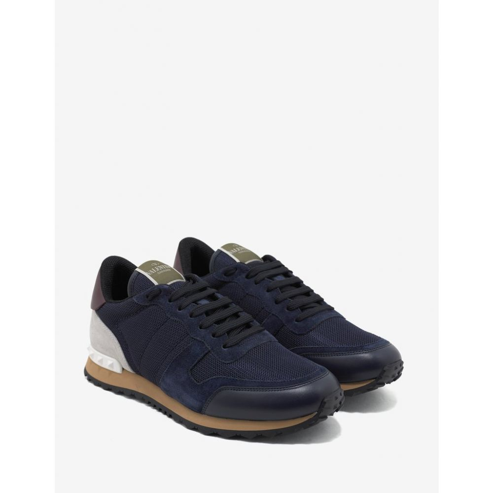 ヴァレンティノ Valentino Garavani メンズ シューズ・靴 スニーカー【Navy Blue Nylon Mesh Rockrunner Trainers】Blue