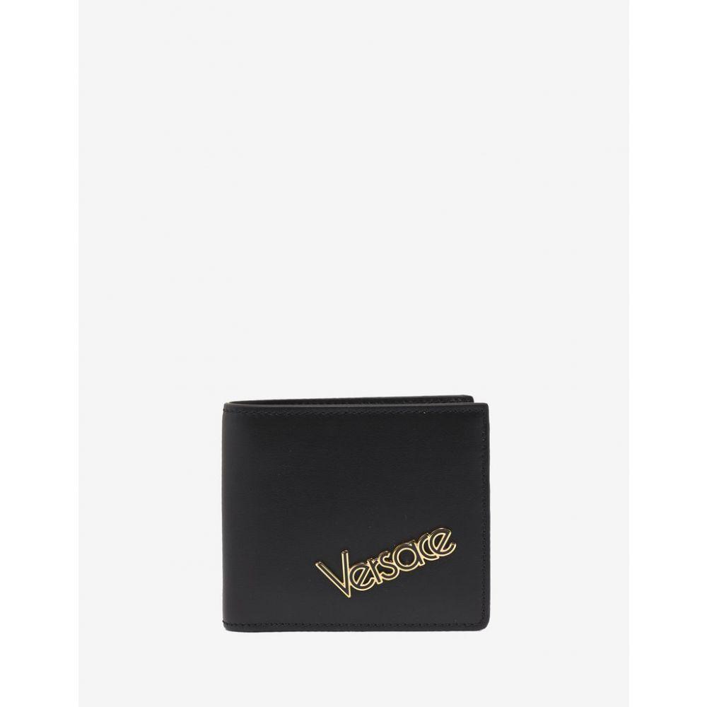 ヴェルサーチ Versace メンズ 財布【Black Vintage Logo Billfold Wallet】Black