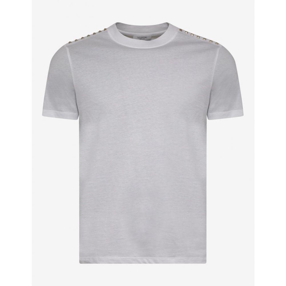 ヴァレンティノ Valentino メンズ トップス Tシャツ【White Rockstud Untitled T-Shirt】White