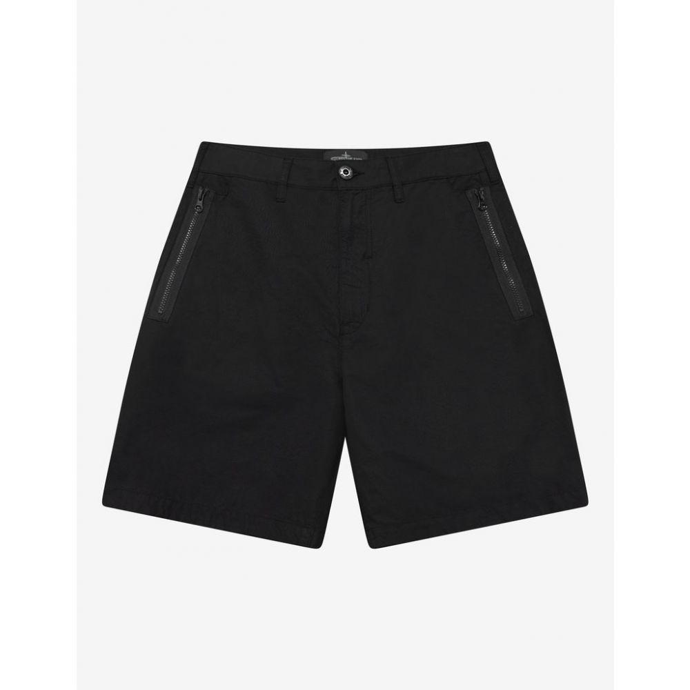 ストーンアイランド Stone Island Shadow Project メンズ ボトムス・パンツ ショートパンツ【Black Zip Chino Shorts】Black