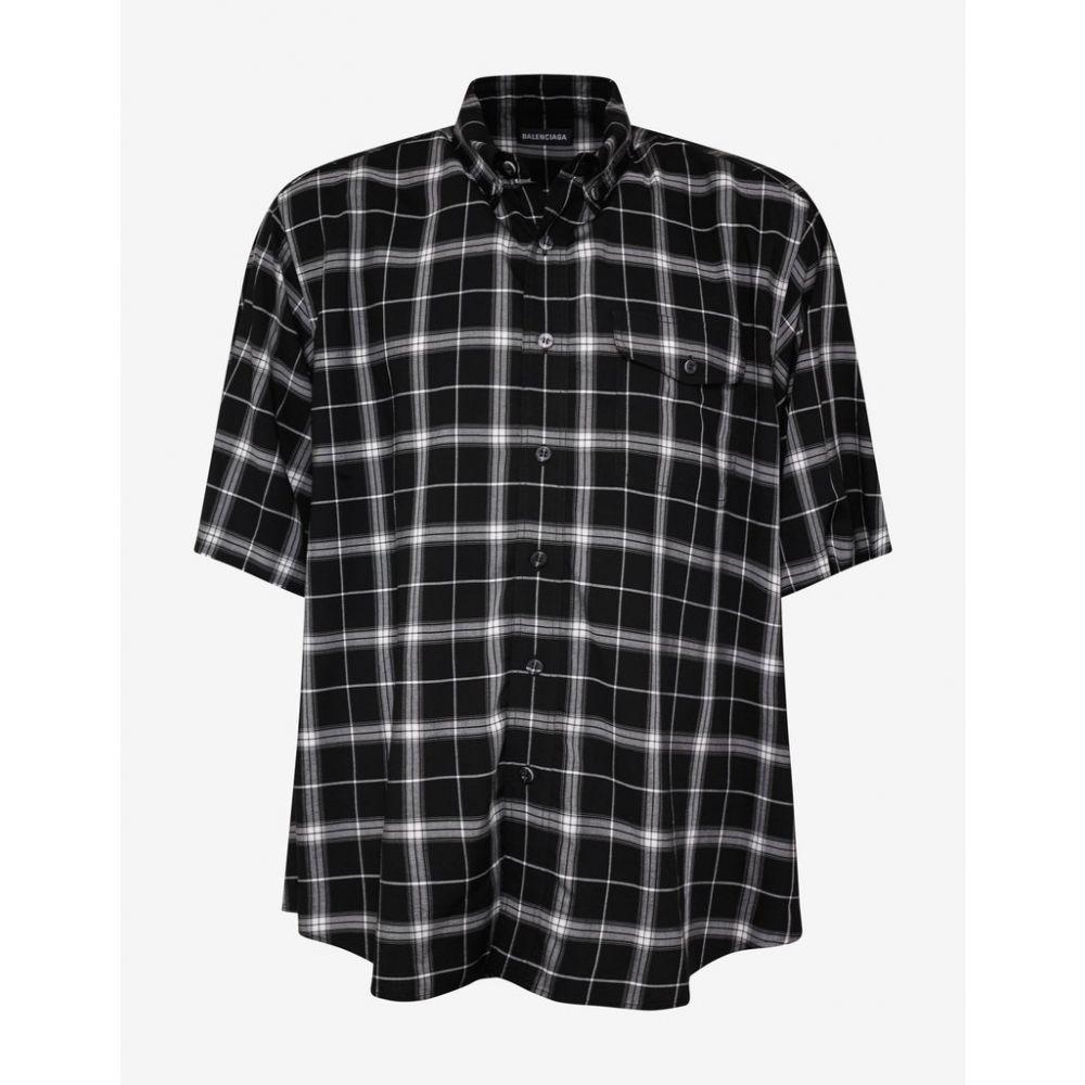 バレンシアガ Balenciaga メンズ トップス シャツ【Black Oversized Check Shirt】Black