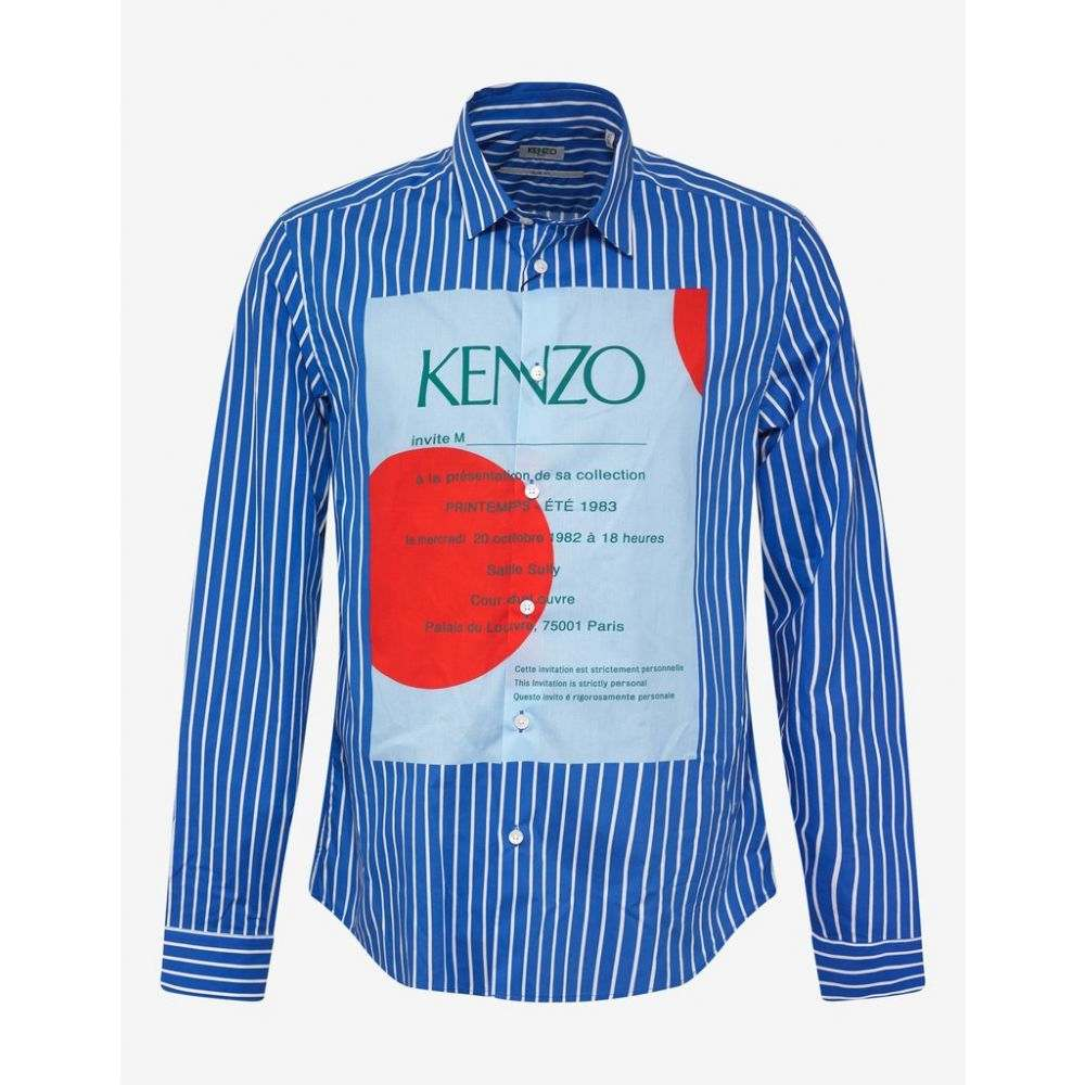 ケンゾー Kenzo メンズ トップス シャツ【Blue Striped Wedding Invitation Shirt】Blue