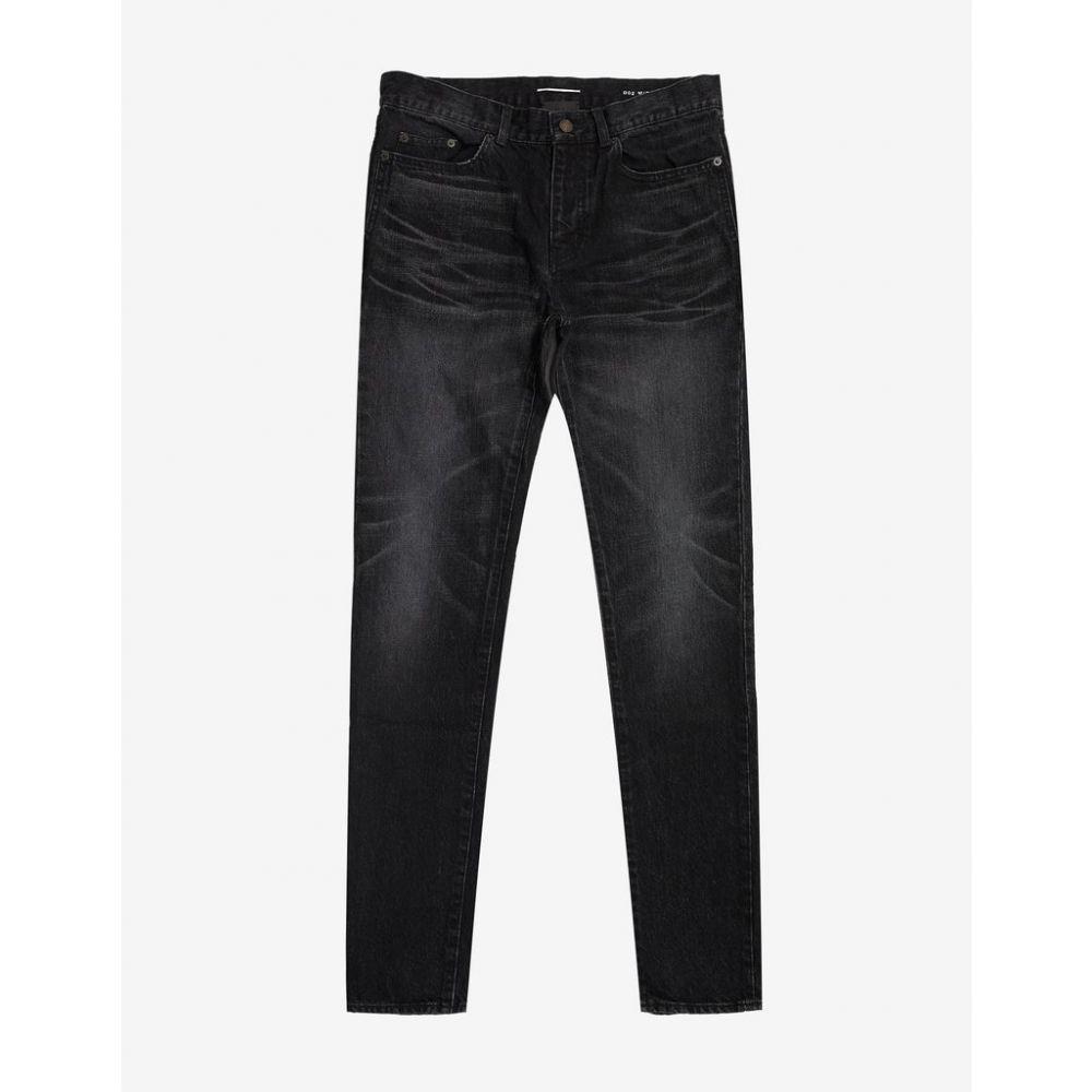 イヴ サンローラン Saint Laurent メンズ ボトムス・パンツ ジーンズ・デニム【Black D02 Washed Slim Jeans】Black