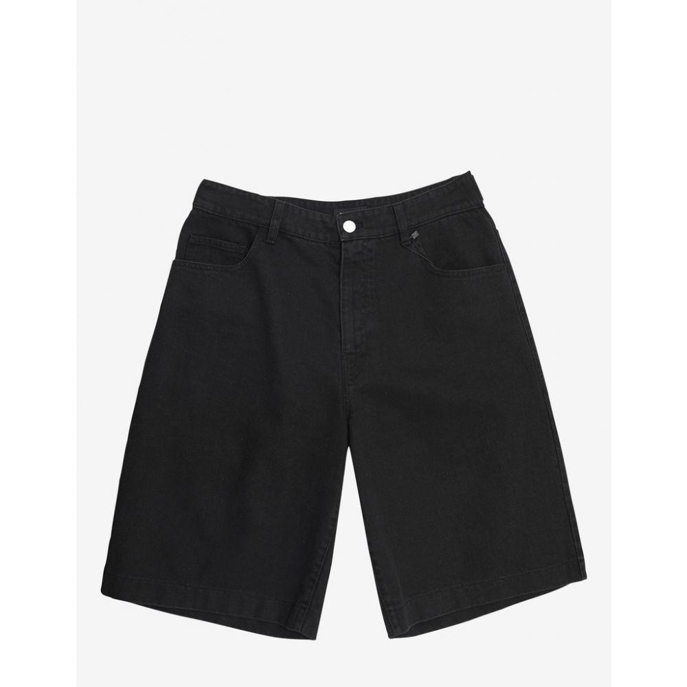 ラフ シモンズ Raf Simons メンズ ボトムス・パンツ ショートパンツ【Black Denim Shorts with Two Patches】Black