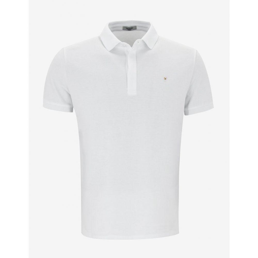 ヴァレンティノ Valentino メンズ トップス ポロシャツ【White Polo T-Shirt with Rockstud】White