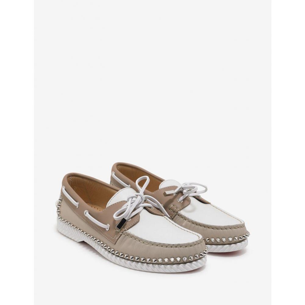 クリスチャン ルブタン Christian Louboutin メンズ シューズ・靴 デッキシューズ【Steckel Colombe Beige Boat Shoes】Beige