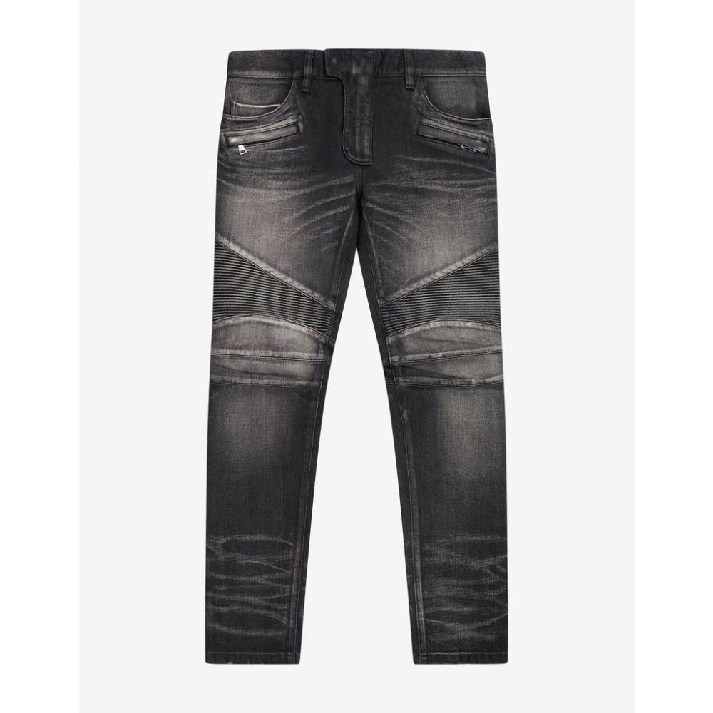 バルマン Balmain メンズ ボトムス・パンツ ジーンズ・デニム【Wash Black Medallion Biker Jeans】Black